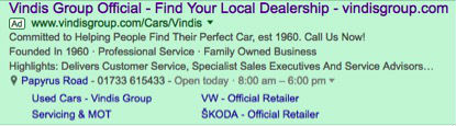 vindis paid snippet example